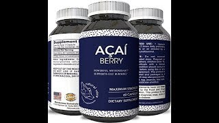 ure Acai Berry Pills – 600mg Premium Concentrate Pills for Weight Loss – Fat Burner Pills – 100% N