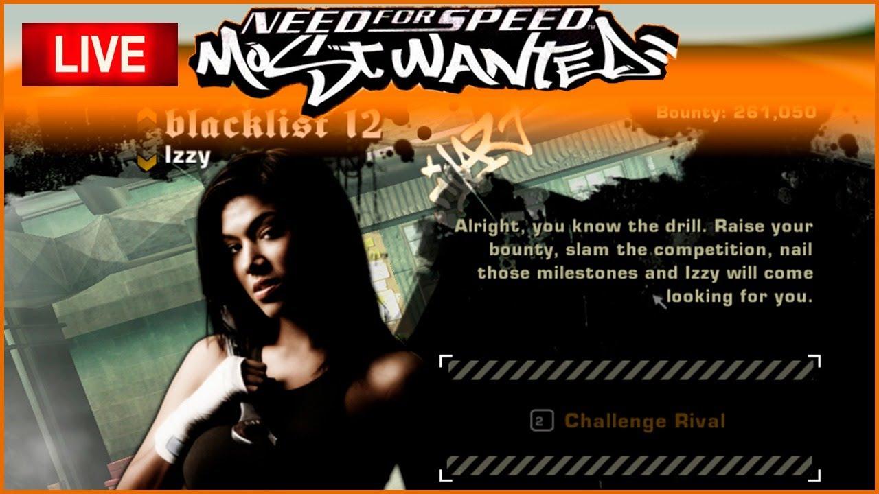 Desafiando Izzy Lista Negra 12 - Need for Speed Most Wanted AO VIVO 19%