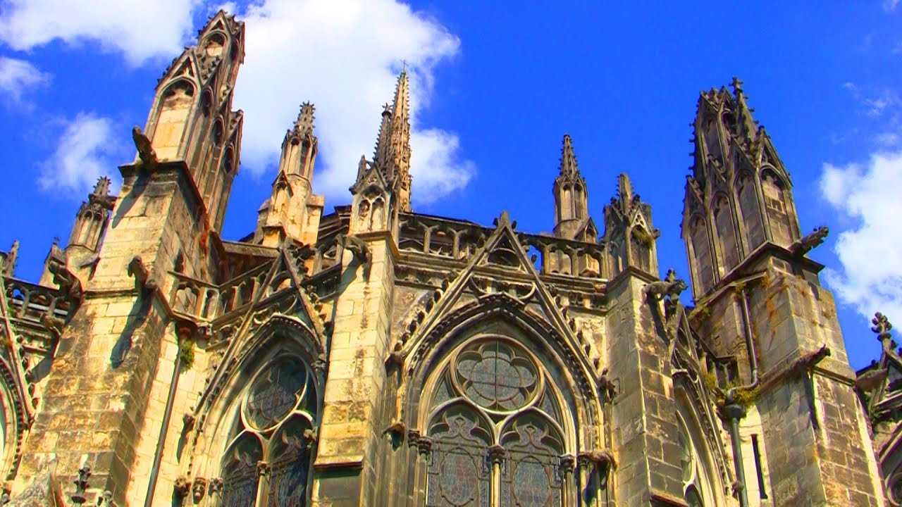 Bordeaux Cathedral France Cathedral Of Saint Andrew Free Hd Stock Footage