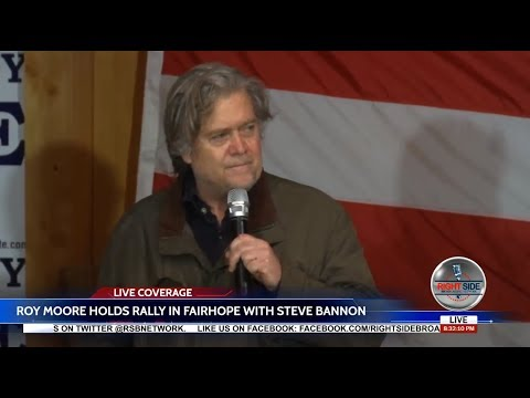 Steve Bannon: Electing Roy Moore Isn't Politics, It's War