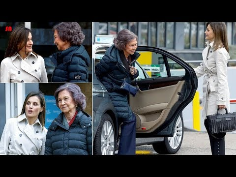 Queen Letizia Apologizes In Public To Sofia By Opening The Car Door