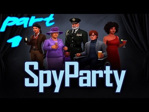 SpyParty Gameplay Walkthrough Part 1 - Low Profile (PC)