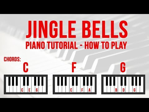Jingle Bells Piano Tutorial | How to play Jingle Bells xmas song on piano. Music sheet and chords.
