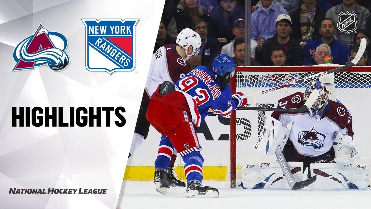 NHL Highlights | Avalanche @ Rangers 1/7/20