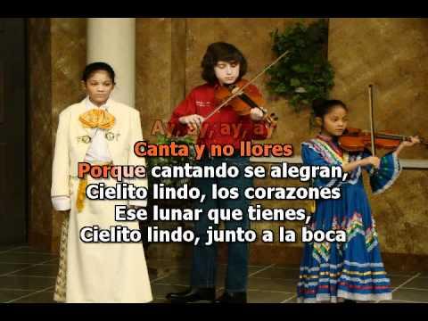Cielito Lindo karaoke - to be used to learn Spanish lyrics