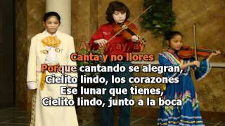 Cielito Lindo karaoke - to be used to learn Spanish lyrics