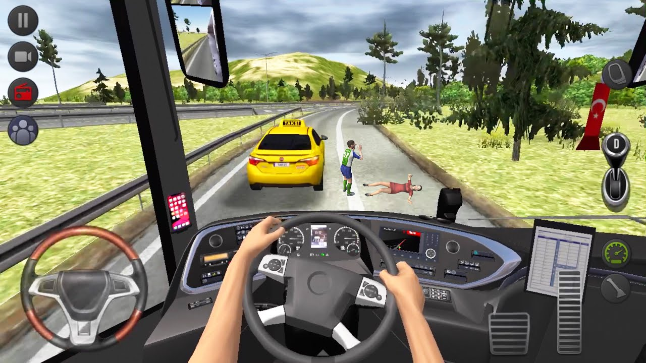 City Highway Bus Accident 🚍👮♂️ Bus Simulator : Ultimate Multiplayer! Bus Wheels Games Android 3D