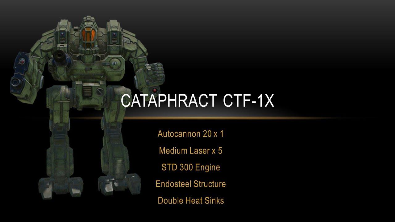 Mechwarrior Online - Cataphract CTF-1X Build and Gameplay