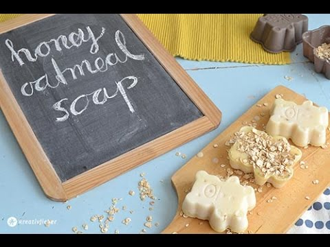 Diy Honey Oatmeal Soap Honigbaren Seife Youtube