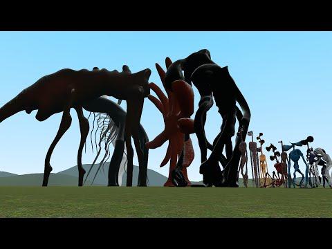 Gmod: Trevor Henderson Creatures Size Comparison! (Trevor Henderson Mod Pack)