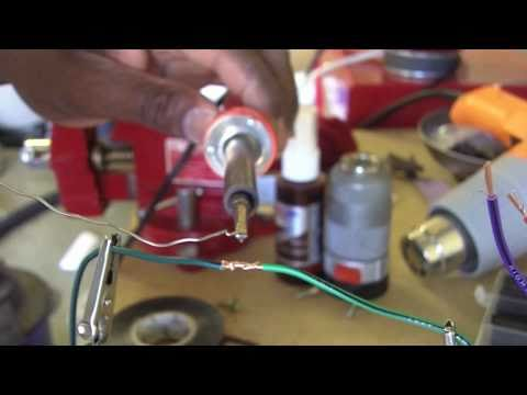 Soldering Small Gauge Wires Youtube