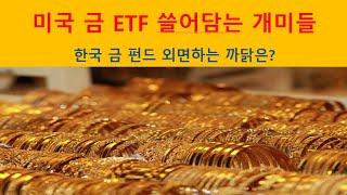 미국 금 ETF 쓸어 담는 개미들. 한국 금 펀드 외면…