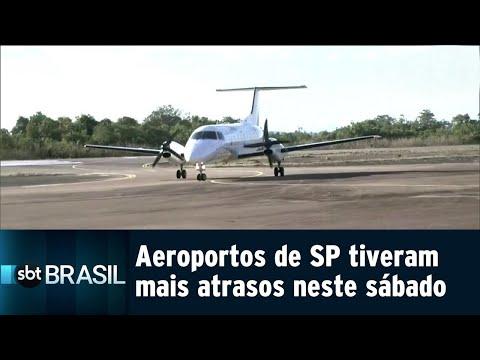 Aeroportos de SP enfrentaram reflexos de falha em radar neste sábado | SBT Brasil (21/07/18)