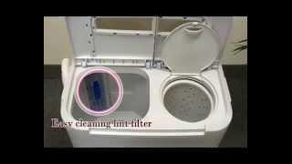 Panda Portable Washing Machine with Spinner Dryer Combo Twin Tub