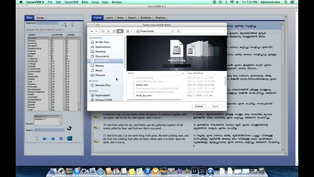 bible software for projector free download
