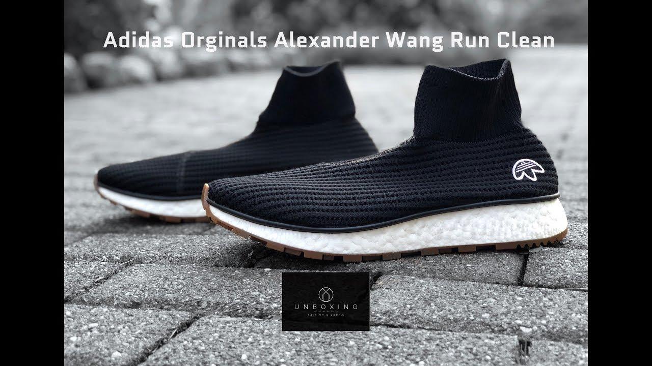 10589feaa Adidas Originals x ALEXANDER WANG Run Clean  Core Black
