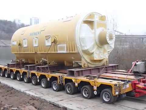 Выкатка Газовой турбины со спецпричала Уфа