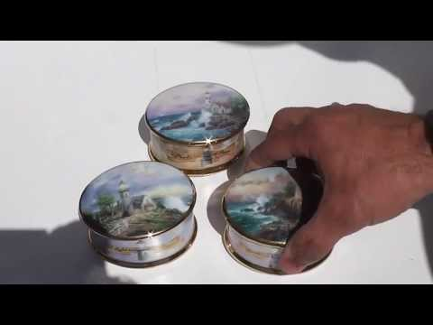 Sold x3 three lighthouse music boxes by Ardleigh-Elliott on ebay