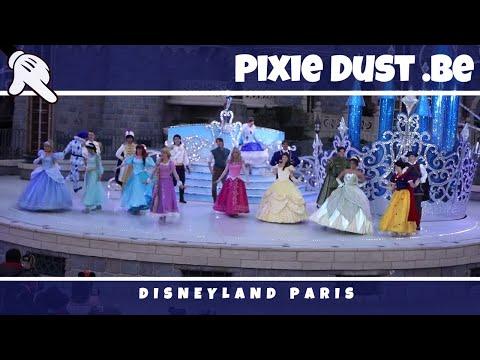 New costume Aladdin, Jasmine, Prince Eric, Prince during The Starlit Princess Waltz at Disn