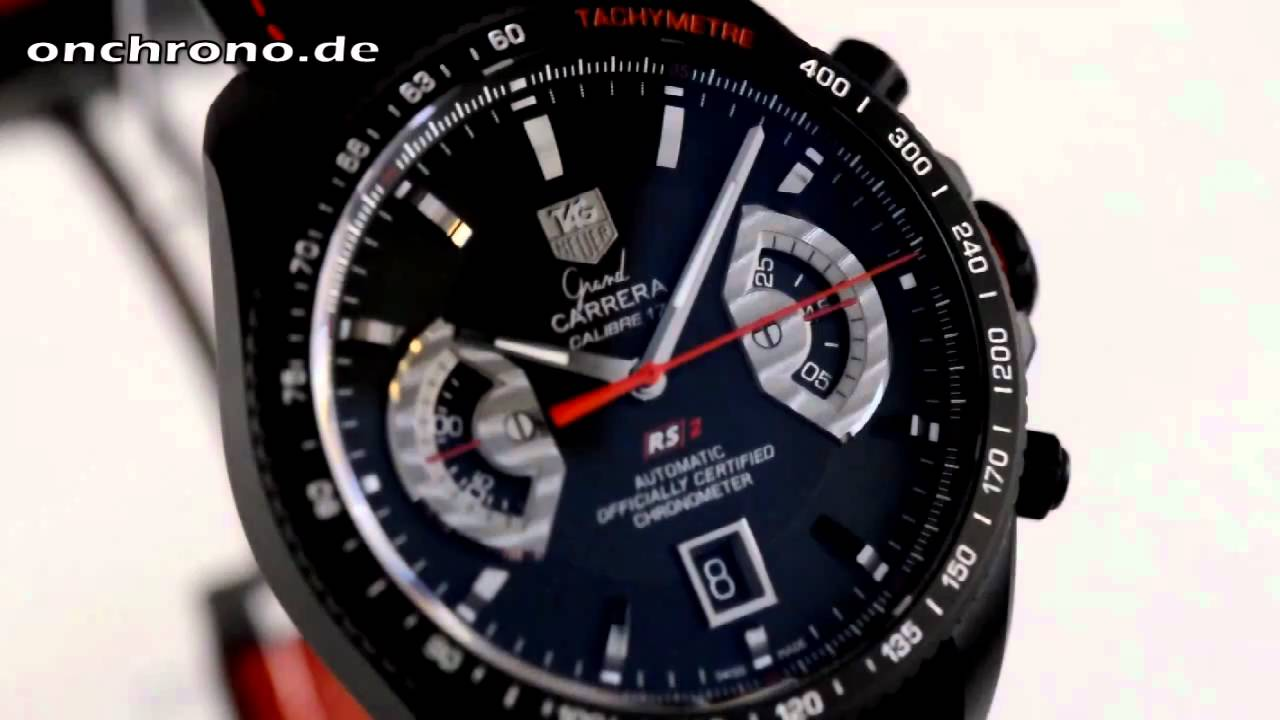 1779f0021c9 TAG Heuer Grand Carrera Calibre 17 RS2 - Onchrono - Test - YouTube