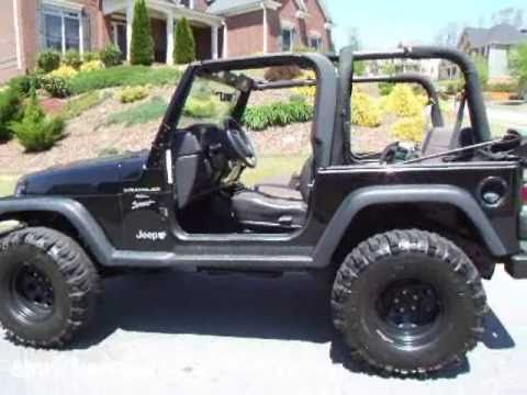 awesome! 2000 jeep wrangler sport! super swampers! - youtube