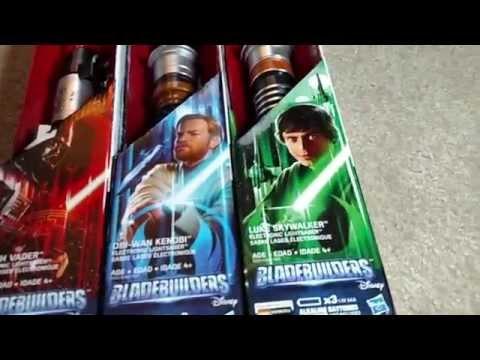 Star Wars Bladebuilders: Luke Skywalker/Darth Vader/Obi-Wan Kenobi Electronic Lightsaber Unboxing