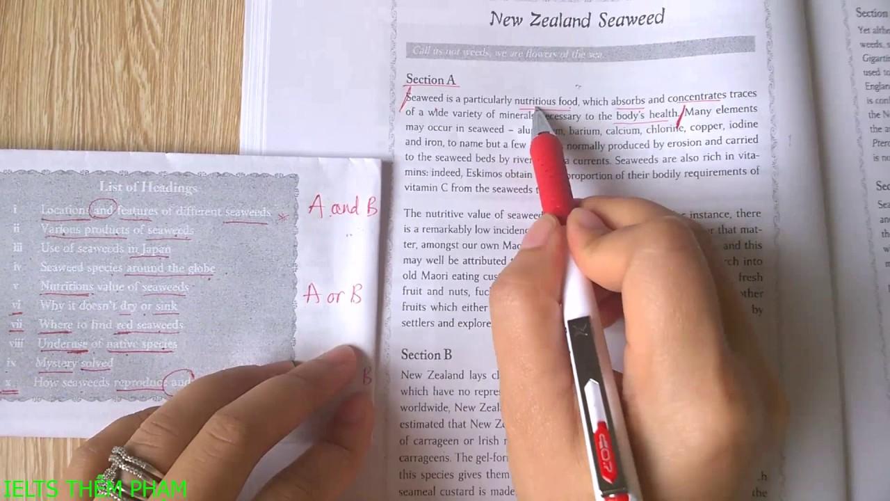 CÁCH LÀM DẠNG BÀI HEADING MATCHING TRONG IELTS READING