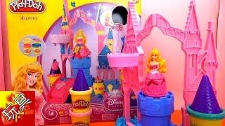 Play Doh 培乐多 Disney 迪士尼 公主 神秘 粉色 梦幻 魔法 城堡 睡美人 奥萝拉 玩具组 组装 展示 2