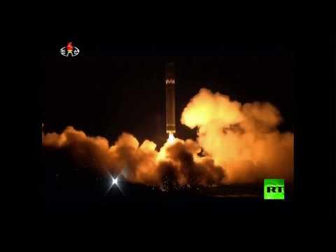 عملية إطلاق الصاروخ الكوري الشمالي الجديد