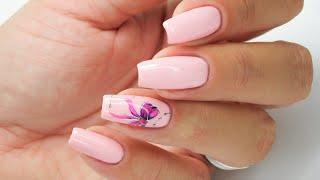 Little pink bow nails art TUTORIAL / Charbonne