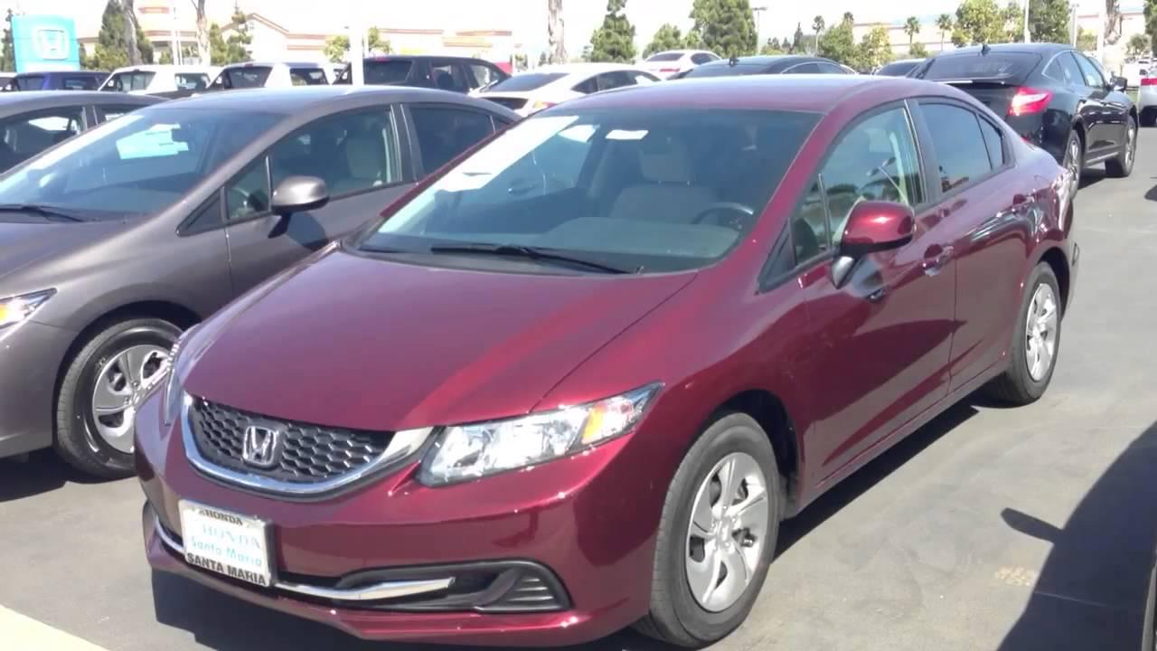 2013 Honda Civic Sedan >> 2013 Honda Civic Sedan LX crimson red pearl - YouTube