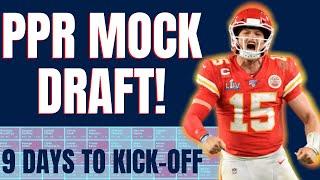 10 Team PPR Mock Draft: LESS THAN 10 DAYS   Fantasy Football 2020