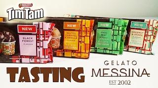 Gelato Messina Tim Tam Tasting - Coconut &amp Lychee Mint Black Forest Salted Caramel  Birdew Reviews