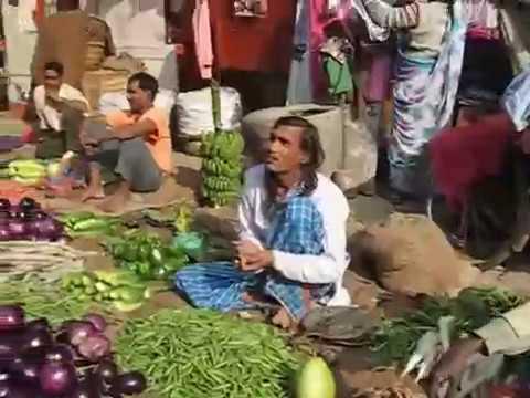 Street Market Life in Varanasi, India