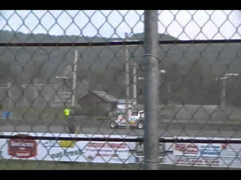 Nick Berry wins heat #3 race action at Canaan Fair Speedway Modifieds 2011