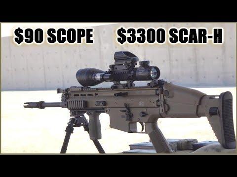 $90 Amazon Scope vs SCAR-H - Will it survive?