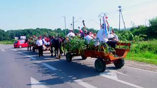 Dożynki gminne GRÓDEK 2017-Siołkowianie w drodze.