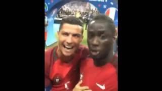 Криштиану Роналду и Эдер селфи Видео После победы ЕВРО-2016