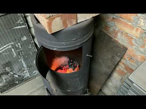 Печь из газового