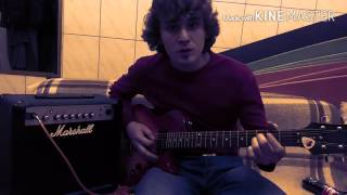 Deep Purple Smoke on the water как играть простые рифы #3