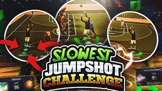 SHOOTING w/ THE SLOWEST JUMPSHOT IN NBA 2K17 • UGLIEST JUMPSHOT IN THE GAME IS WET FROM FULLCOURT??😱