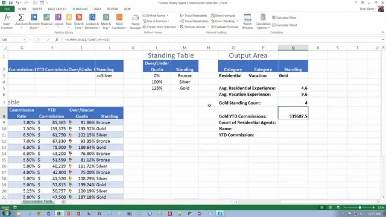 Excel 2013 Comprehensive, Chapter 06, part 4 - YouTube