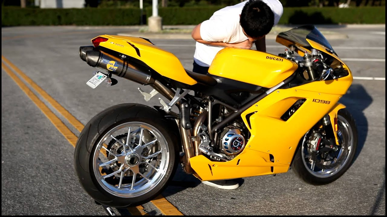 yellow 2007 ducati 1098 full leo vince sdy moto clutch cover ...