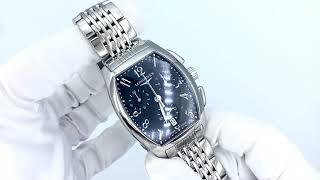 Vidéo: Montre Longines Collection Evidenza en acier avec chronographe. Mouvement quartz.