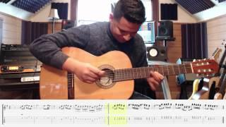 Bailando Guitar Solo Tutorial con TABS.