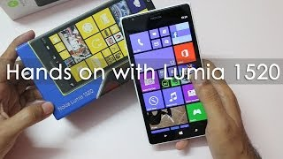 nokia Lumia 1520 Windows Phone Unboxing & Hands On Overview