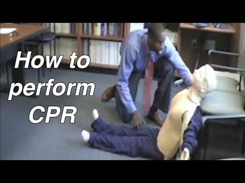 How to perform CPR - Cardiopulmonary Resuscitation