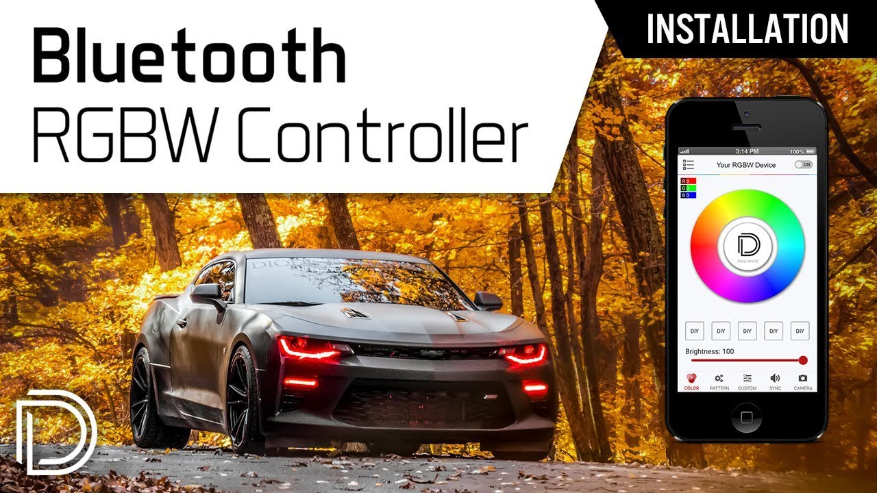 How To Install Diode Dynamics Bluetooth Rgbw Controller With Mustang Fog Light Wiring Harness Existing Products