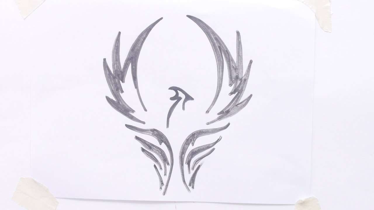 how to draw bird tribal tattoo youtube