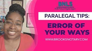 Error of Your Ways